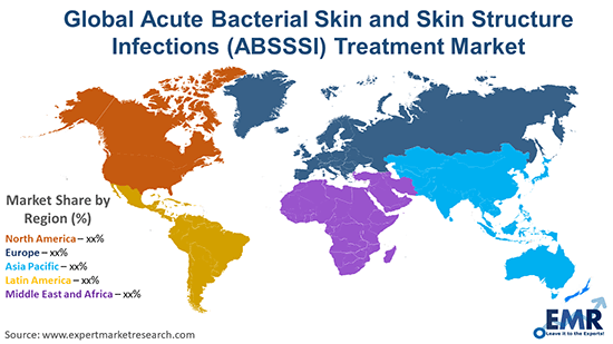 Global Acute Bacterial Skin and Skin Structure Infections (ABSSSI) Treatment Market By Region