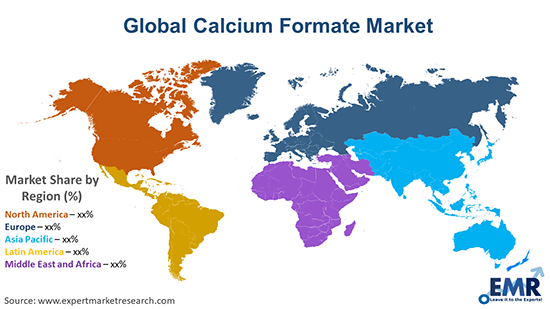 Global Calcium Formate Market By Region