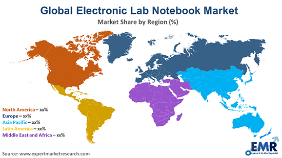 Global Electronic Lab Notebook Market By Region