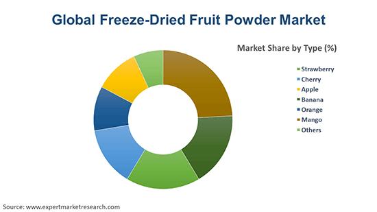 Global Freeze-Dried Fruit Powder Market By Type