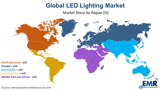 LED Lighting Market by Region