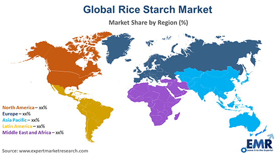 Global Rice Starch Market by Region