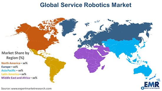 Global Service Robotics Market By Region