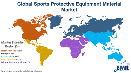 Global Sports Protective Equipment Material Market By Region