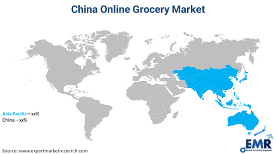 China Online Grocery Market By Region