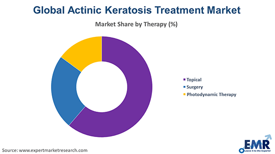 Actinic Keratosis Treatment Market by therapy