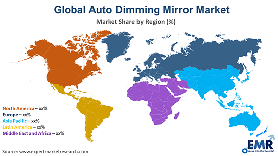 Global Auto Dimming Mirror Market By Region