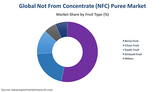 Global Not From Concentrate (NFC) Puree Market By Fruit Type