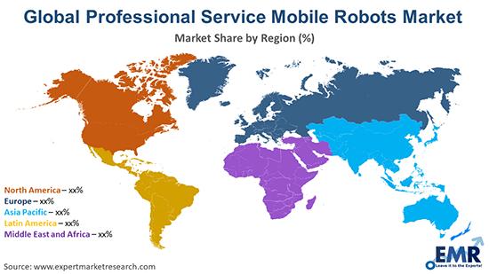 Global Professional Service Mobile Robots Market By Region