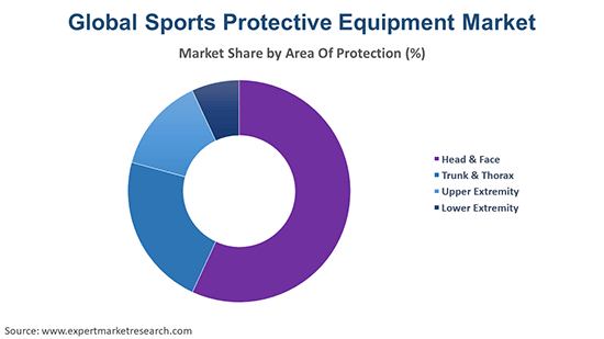 Global Sports Protective Equipment Market Area Of protection