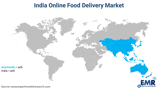 India Online Food Delivery Market By Region