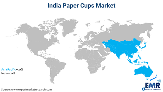 India Paper Cups Market By Region