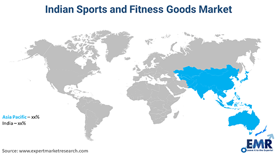 Indian Sports and Fitness Goods Market By Region