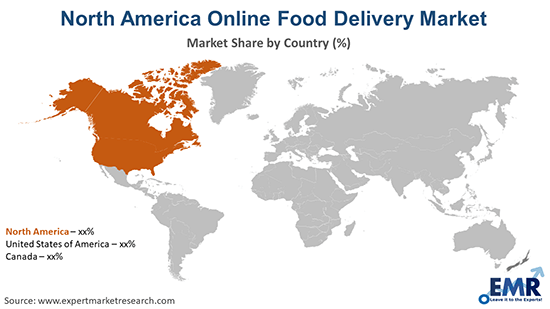 North America Online Food Delivery Market By Region