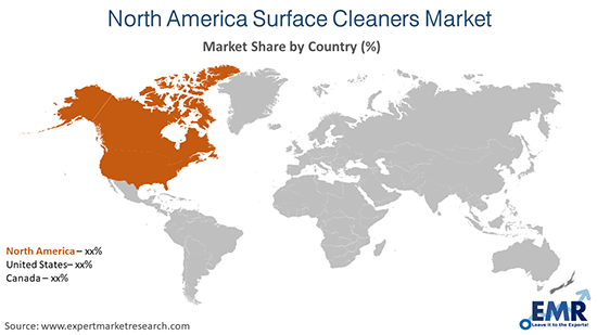 North America Surface Cleaners Market By Region